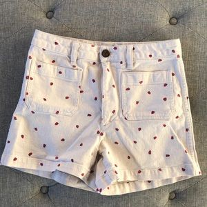Madewell strawberry shorts 🍓 ♥️
